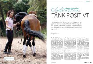 Charlotte Wittbom in Hästfocus Magazine 2011