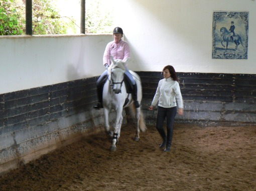 Riding lesson at Quinta do Brejo.
