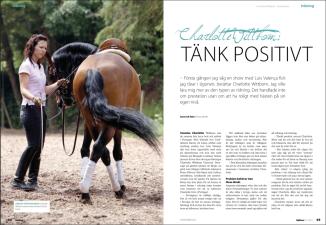 Charlotte Wittbom in Hästfocus Magazine