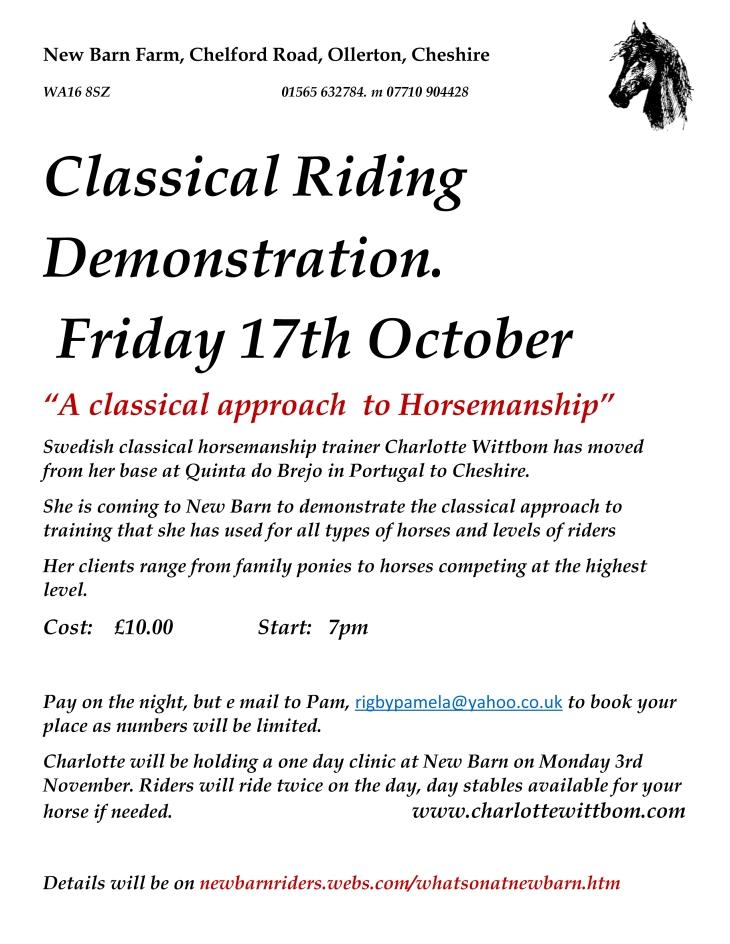 Classical demo New Barn